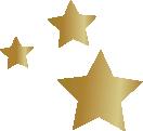 étoiles dorées qui représentent l'énergie